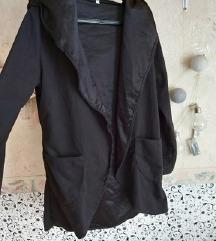 Fekete vékony kabát, blézer