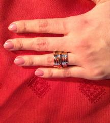 Különleges 8 soros arany színű gyűrű