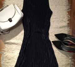 Új! Sötétkék pliszírozott ruha