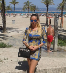 Arany kék fekete ruha