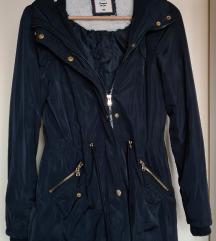 F&F sötétkék parka kabát 36 S