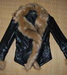 Új műbőr szőrmés kabát S méret nemcserés