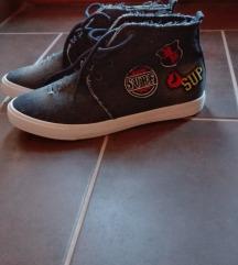 Farmer, felvarrós magasszárú cipő