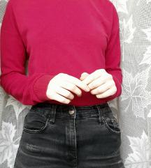 Rózsaszínes-bordó pulcsi
