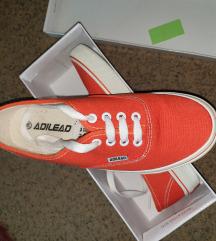 Narancssárga vászoncipő