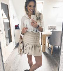Zara bézs szoknya