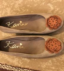 Karino bőr telitalpú magassarkú cipő 38