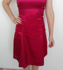 Bordó szatén ruha és boleró, új, 38-as, címkés