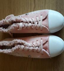 Rózsaszín rojtos tornacipő, új!