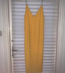 Zara szexi elegáns sárga ruha nyàri új