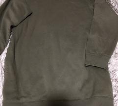 F&F khaki hosszított pulcsi