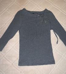 Tallys fűzős szürke póló
