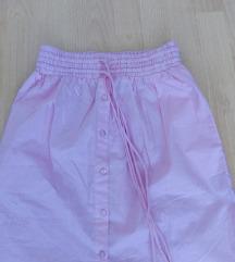 ÚJ ASOS rózsaszín midi szoknya XS-S