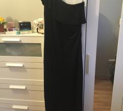 Új félvállas fekete maxiruha L-XL