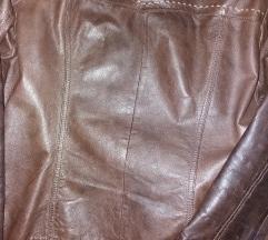 C&A barna bőr kabát eladó.