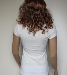Új Stradivarius fehér póló, lányos mintával
