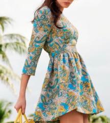 h&m paisley mintás könnyű nyári ruha 34