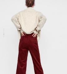 Zara bőszárú kordbársony nadrág