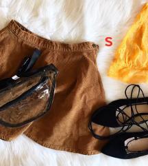 szoknya, bralet, topánka