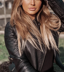 Zara fekete biker motoros dzseki