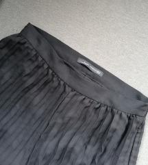 Fekete pliszírozott magasderekú nadrág