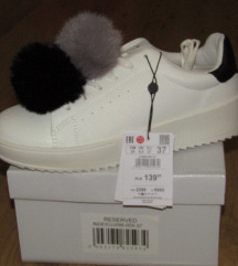ÚJ Reserved pomponos fehér sportos cipő 37-es