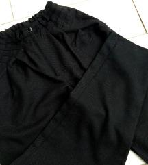 Fekete high waist szövet répanadrág