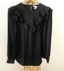 H&M fekete fodros blúz