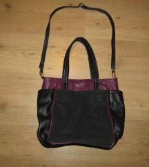 Oliver Bonas fekete-lila váll táska