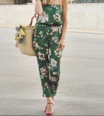 Zara virágos szatén jumpsuit