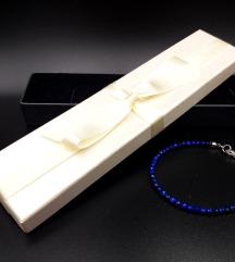 Lápisz Lazurit ásvány karkötő:Védelmező