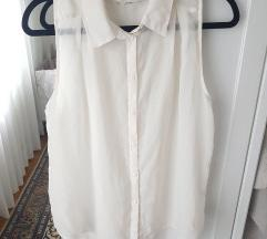 Áttetsző ujjatlan felső ing/blúz