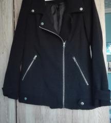 Tavaszi/őszi kabát, fekete, elegáns