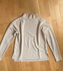 Ginatricot bézs magasított nyakú pulóver S-M