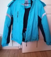 Világoskék síkabát-szerű kabát M-es