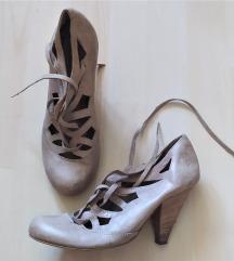 Next drapp fűzős bőrcipő, bőr cipő 38