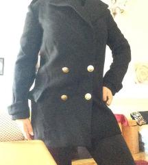 fekete Zara kabát s-es 36