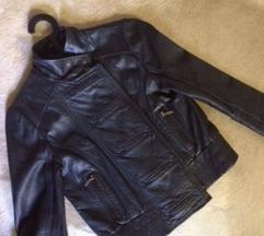 Topshop biker marhabőr kék dzsekim akcióztam