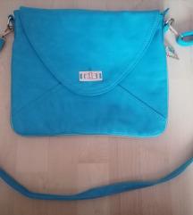 Elénk kék műbőr táska