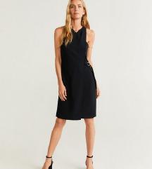 mango új címkés  divatos fekete business ruha
