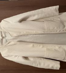 Divatos elegáns kabát fehér tavaszi h&m