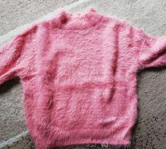 Pink bolyhos felső