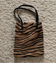 plüss zebra/tigris mintás táska