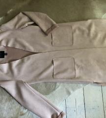 🧨2020 Új Faux suede pink long coat minimal