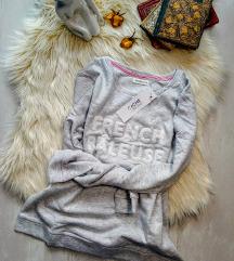 Címkés teddy feliratos pamut pulcsi LésXL