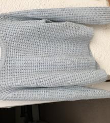 Select kötött világoskék pulcsi
