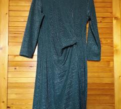 Reserved sötétzöld csillogó alkalmi ruha