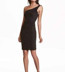 H&M címkés fekete-arany ruha, S