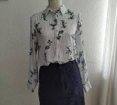 Kék fehér Reserved virág mintás blúz ing új