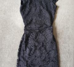 H&M fekete csipke ruha